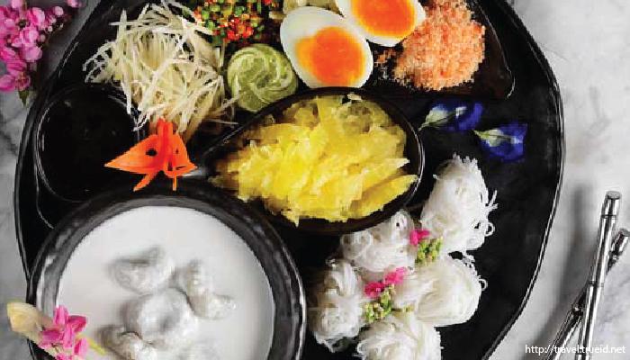 อาหารไทย ขนมจีนซาวน้ำ