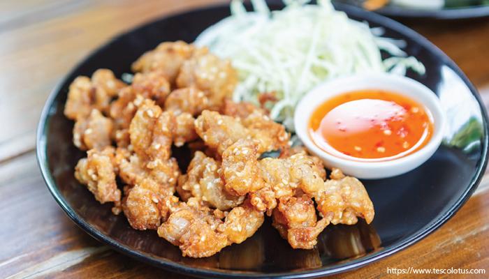 อาหารไทย เอ็นข้อไก่ทอด