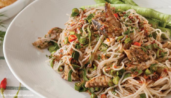 อาหารไทย ยำขนมจีน