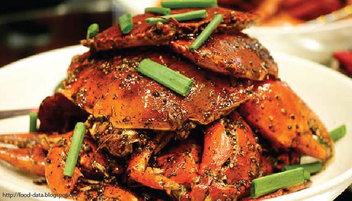 อาหารไทย ปูผัดพริกไทยดำ