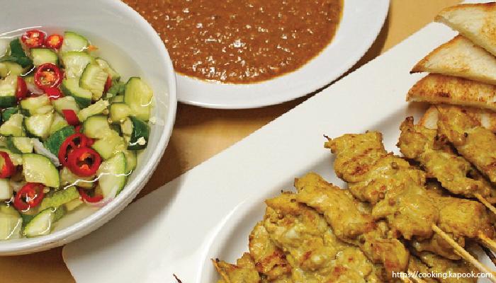 อาหารไทย หมูสะเต๊ะ