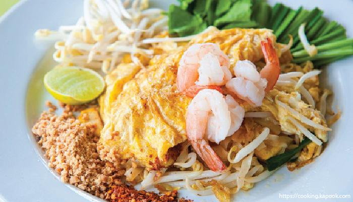 สูตรอาหาร วัตถุดิบ ผัดไทย